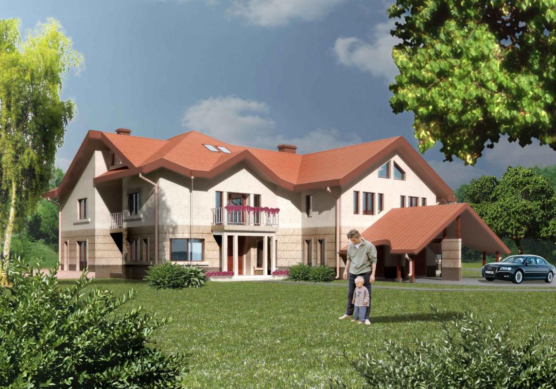 Dom jednorodzinny w kolorze