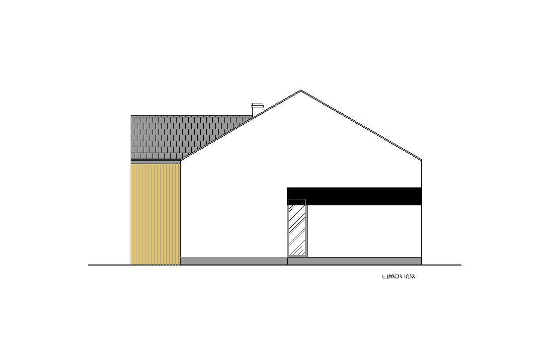 Projekt - elewacja tylna